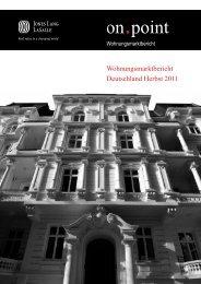 Wohnungsmarktbericht Deutschland Herbst 2011 - Jones Lang ...