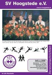HSV Nachrichten 08/01 - SV Hoogstede eV