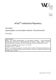 ePub Institutional Repository - Electronic Publications of the WU-Wien