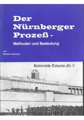 Historische Tatsachen - Nr. 03 - Der Nürnberger Prozess ...