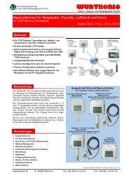 Messumformer für Temperatur, Feuchte ... - Wuntronic GmbH