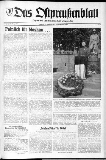 Folge 37 vom 14.09.1963 - Archiv Preussische Allgemeine Zeitung