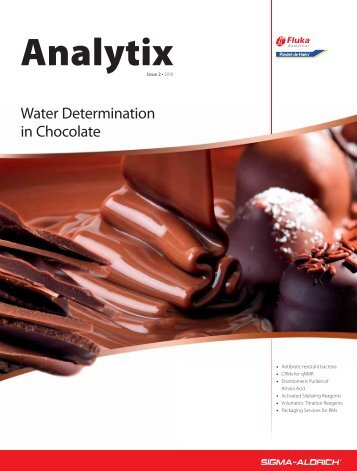 Water Determination in Chocolate and Cocoa - Sigma-Aldrich