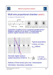 Multi wire proportional chamber (MWPC) - Fisica