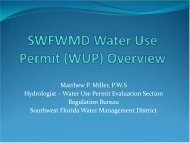 SWFWMD Water Use Permit (WUP) Overview