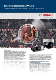 Eine kompromisslose Vision - Bosch Security Systems