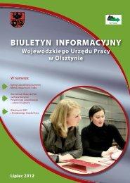 WUP Olsztyn Biuletyn Informacyjny nr 2 2012 kor 1.indd