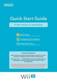 Nintendo Wii U Quick Start Guide (PDF)