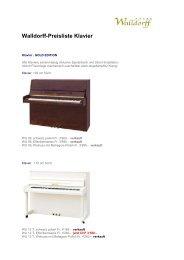 Walldorff-Preisliste Klavier - Walldorff Pianos