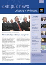 Campus News - October 2004 - University of Wollongong