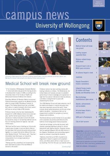 Campus News - October 2004 - University of Wollongong