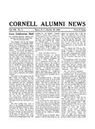 CORNELL ALUMNI NEWS - Cornell University