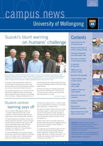 Campus News - March 2005 - University of Wollongong