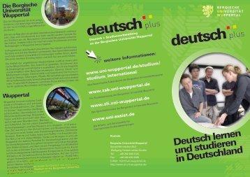 Bergischen Universität Wuppertal - SLI - Bergische Universität ...