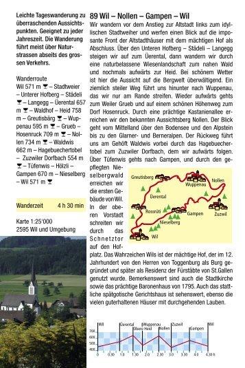 89 Wil – Nollen – Gampen - St.Galler Wanderwege