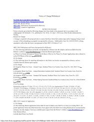 40D-2 Notice of Change - Southwest Florida Water Management ...
