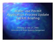 Water Use Permit Application Process Update ... - State of Hawaii