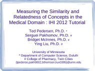 Measuring the Similarity and Relatedness of Concepts in the ...