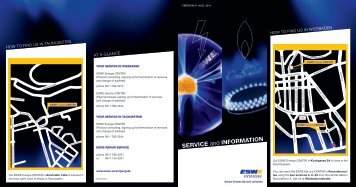 SERVICE and INFORMATION - ESWE Versorgungs AG
