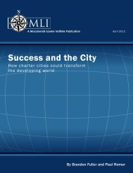 Success and the City - Macdonald Laurier Institute