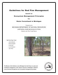 Guidelines for Red Pine Management - State of Michigan