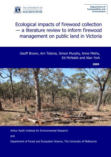Ecological impacts of firewood collection - Department of ...