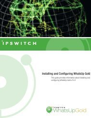 Installing and Configuring WhatsUp Gold v15.0 - Ipswitch ...