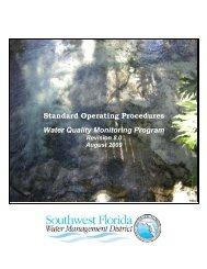 Standard Operating Procedures Water Quality Monitoring Program
