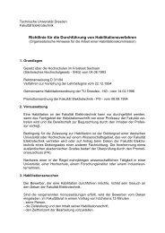 Richtlinie für die Durchführung von Habilitationsverfahren - Fakultät ...