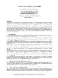 Toward textual encoding based on RDF - CiteSeerX