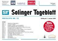 Mediadaten - Solinger Tageblatt