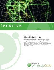 WhatsUp Gold v16.0 - Ipswitch Documentation Server