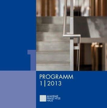 PROGRAMM 1 2013 - Franz-Hitze-Haus