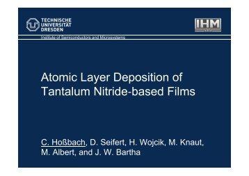 Atomic Layer Deposition of Tantalum Nitride based Films