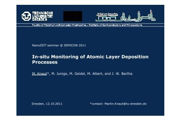 In-situ Monitoring of Atomic Layer Deposition Processes