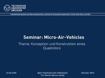 Aerodynamisches Konzept - Fakultät Elektrotechnik und ...
