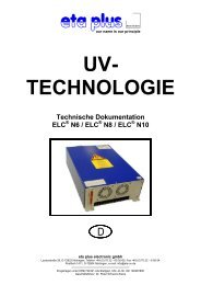 UV- TECHNOLOGIE £¤Ÿ - eta plus electronic GmbH