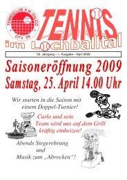 Wir starten in die Saison mit einem Doppel-Turnier! - Tennis Club ...