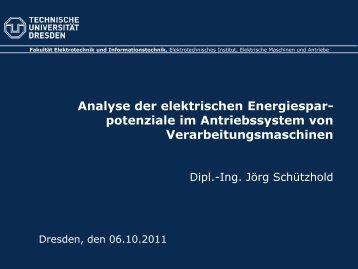 Analyse der elektrischen Energiesparpotenziale im Antriebssystem ...