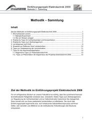 Methodik – Sammlung - Fakultät Elektrotechnik und ...