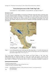 Ecosystem processes of the Tonle Sap Lake - tkk