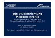 Die Studienrichtung Mikroelektronik - Fakultät Elektrotechnik und ...