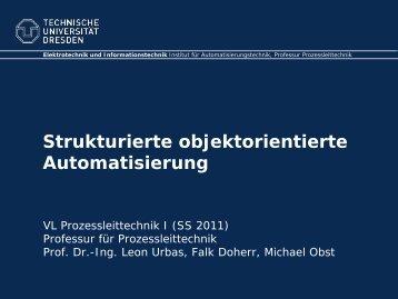 Strukturierte Automatisierung mit Typicals - Fakultät Elektrotechnik ...