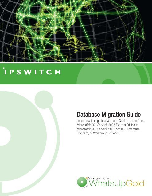WhatsUp Gold Database Migration Guide - Ipswitch Documentation ...