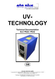 UV- TECHNOLOGY Technical Documentation ELC PE22 / PE32