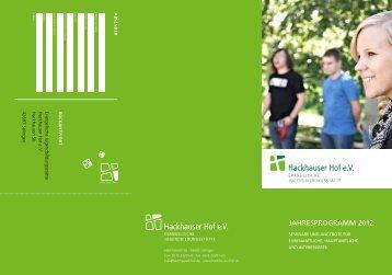 JAHRESPROGRAMM 2012 - Hackhauser Hof