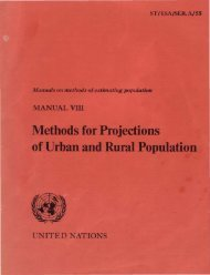 Manual VIII - Methods for Projections of Urban and ... - Development