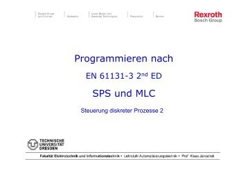 Programmieren nach SPS und MLC