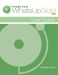 Ipswitch WhatsUp Gold User Guide - Ipswitch Documentation Server