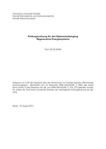 Prüfungsordnung - Fakultät Elektrotechnik und Informationstechnik ...